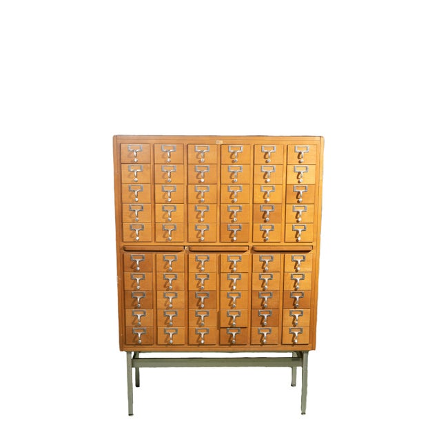 1960s Industrial Standing Card Catalogue For Sale In Chicago - Image 6 of 6