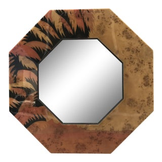 Lacquered Mirror by Jean Claude Mahey For Sale