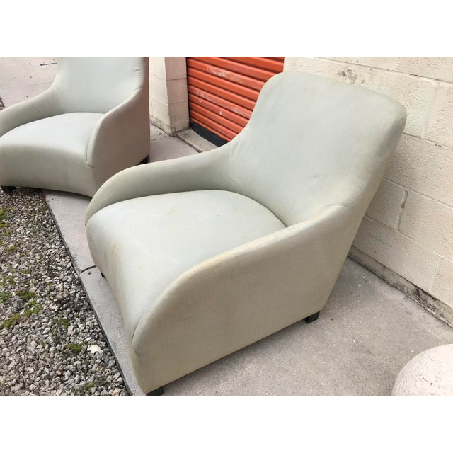 Contemporary 1980s Contemporary Donghia Style Club Chairs - a Pair For Sale - Image 3 of 5