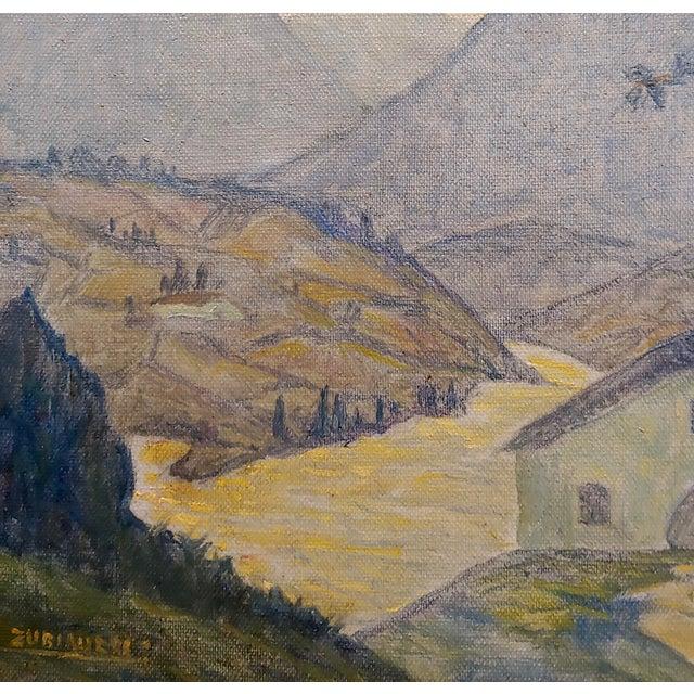 1920s Valentin De Zubiaurre Jr -Spanish Basque Landscape -Oil Painting For Sale - Image 5 of 9