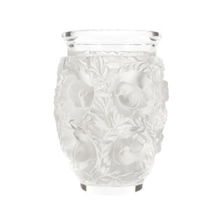 Lalique Paris -Vintage Art Glass Vase With Birds For Sale