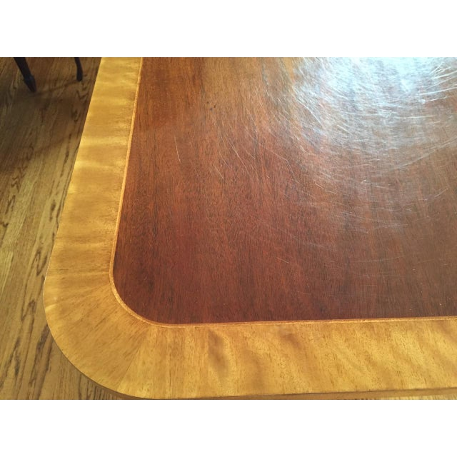 Baker Double Pedestal Mahogany Dining Table - Image 6 of 7