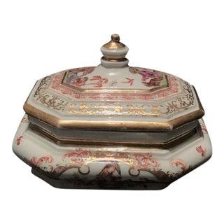 Vintage Meissen K.P.M. Porcelain Lidded Sugar Bowl For Sale