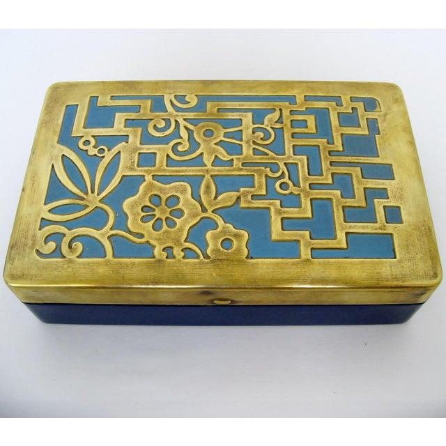 Vintage German Brass & Enamel Box - Image 2 of 6