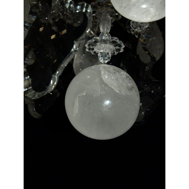 Bronze Antique Chandelier. Rock Crystal Chandelier by Baccarat For Sale - Image 7 of 8