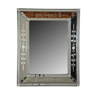 Italian Venetian-Style Etched Mirror