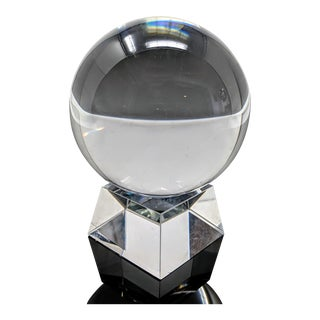 Heavyweight Crystal Orb, Sphere, Ball For Sale