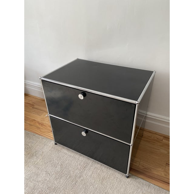 Usm Haller Usm Haller Black 2 Drawer Cabinet For Sale - Image 4 of 5