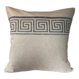 Mediterranean Style Greek Key Design Pillow - 22ʺW × 22ʺH For Sale