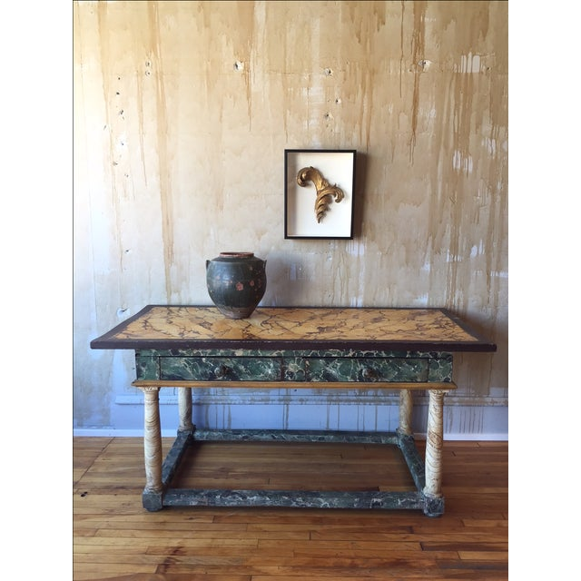 Painted Italian Antique Table For Sale In Kansas City - Image 6 of 10
