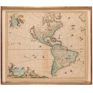 Antique Map of the Americas by Frederick De Wit For Sale