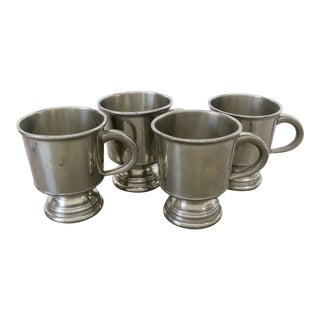 Sheffield Pewter Tankards - Set of 4 For Sale