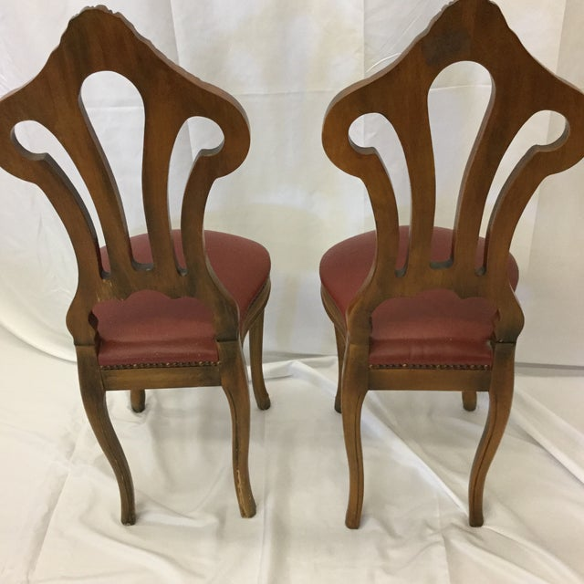 French Style Petite Accent Chairs - a Pair For Sale In Richmond - Image 6 of 12