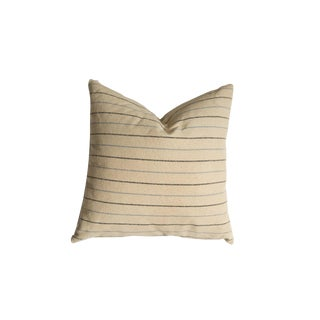 20x20 Remnant Stripe Silk Fabric Throw Pillow For Sale