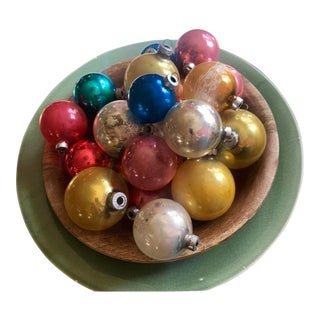 Vintage Mercury Glass Christmas Balls - Set of 18 For Sale