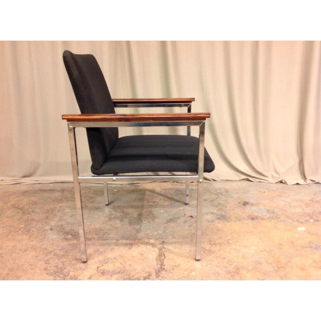 French Mid-Century Arm Chairs - Set of 6 For Sale - Image 4 of 8