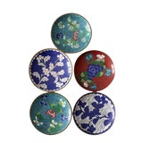 Image of Antique Chinese Cloisonne Plates - Set of 5 For Sale