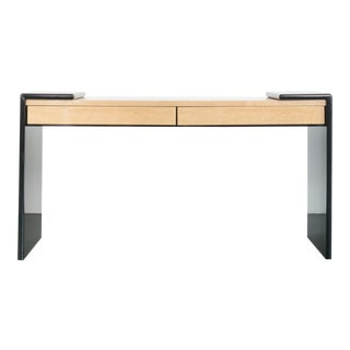 Modern Lacquer Maple Console Table For Sale