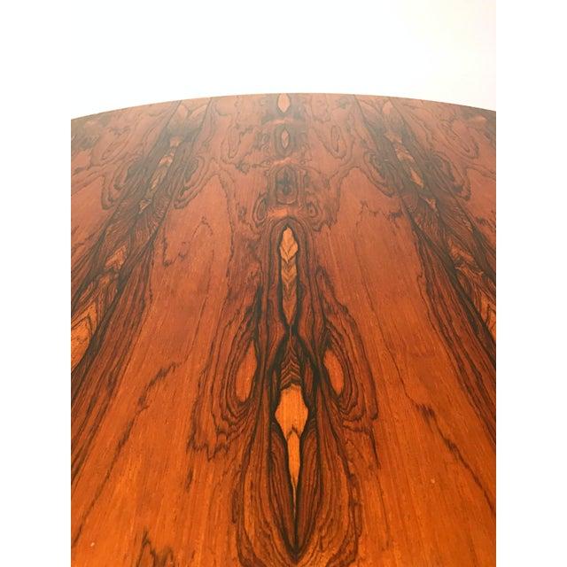 Danish Modern Rosewood Circular Coffee Table - Image 6 of 6