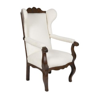 Early 19th Century Anglo Dutch Highback Armchair For Sale