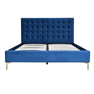 Modern Blue Velvet Eastern King Bed Frame Preview