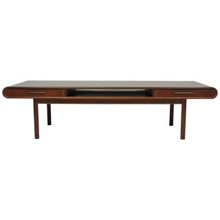 Danish Modern Teak Coffee Table With Drawers Toften Mobelfabrik For Sale