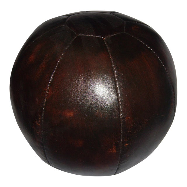 English 20 Lb. Leather Medicine Ball - Image 1 of 4