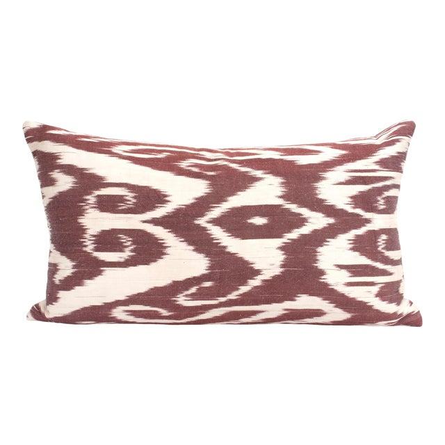 Silk Ikat Kidney Pillow For Sale