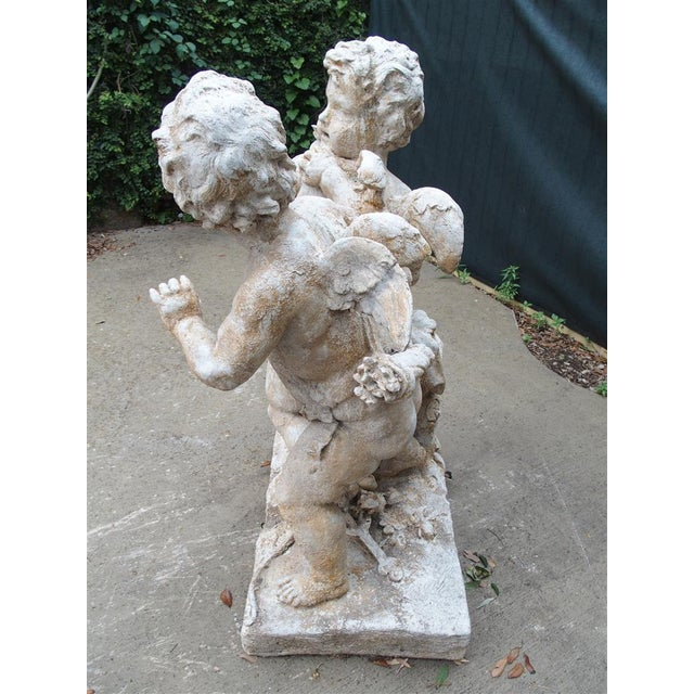 Cast Stone Cupids Statue From France For Sale - Image 9 of 10