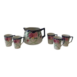 Te-Oh China Nippon Cups & Pitcher - Set of 6 For Sale