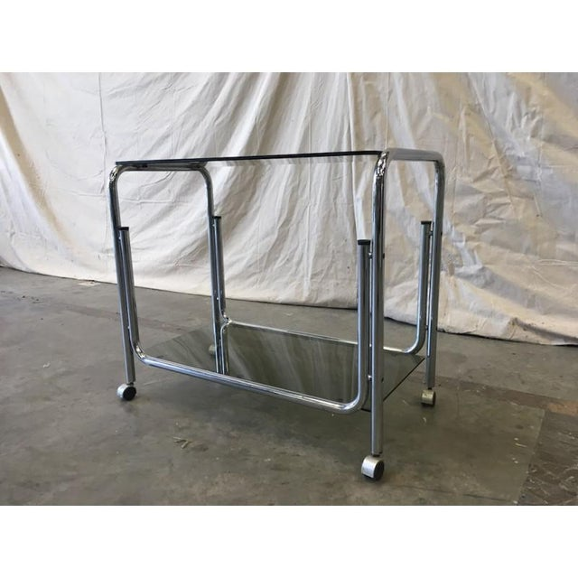 Silver Mid-Century Modern Drink Cart Server For Sale - Image 8 of 8