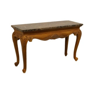 "Hekman Furniture Louis XVI Marble Top 51"" Sofa Table For Sale"