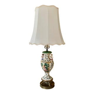 1900s Cloisonné Table Lamp With Figures For Sale