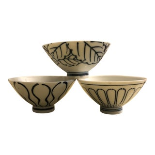 1920s Dresden Art Bowls from Japan - Set of 3 For Sale