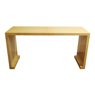 Modern Lacquered Goatskin Console Table Attributed To Karl Springer For Sale
