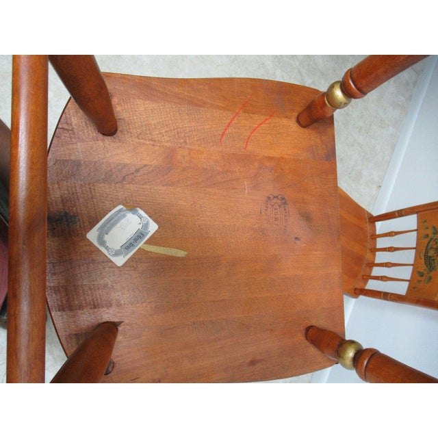 Bent Brothers Plank Bottom Hitchcock Style Dining Chairs - A Pair For Sale - Image 10 of 11