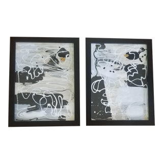 Beth Downey Contemporary Abstract Paintings - A Pair For Sale