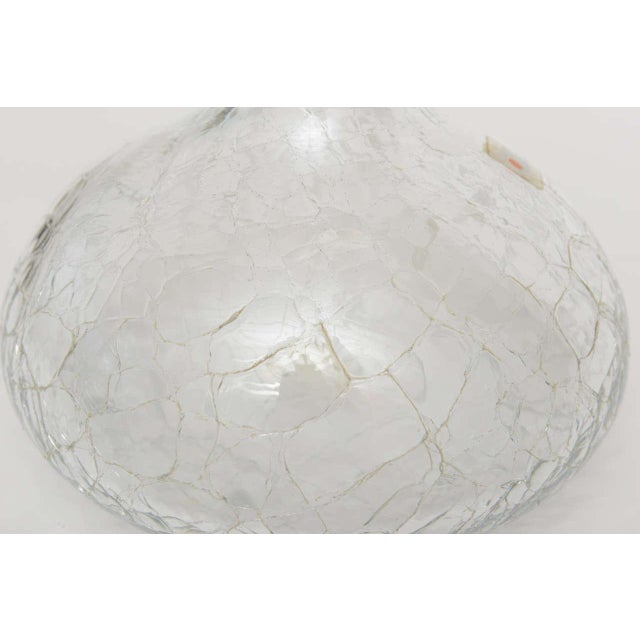 Crackled Glass Blenko Modern Decanter - Image 9 of 10