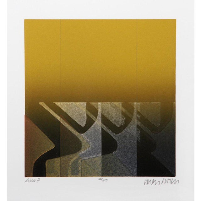 "Carlos Davila ""Line Iii"" Aquatint Etching For Sale - Image 4 of 5"