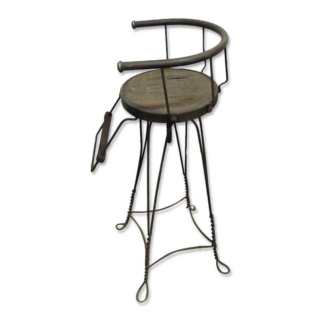 Cast Iron Unique Traditonal Industrial Cast Iron High Stool For Sale - Image 7 of 10