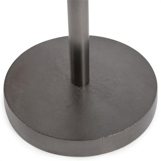 2020s Kenneth Ludwig Chicago Minimalist Cast Aluminum Martini Table For Sale - Image 5 of 7