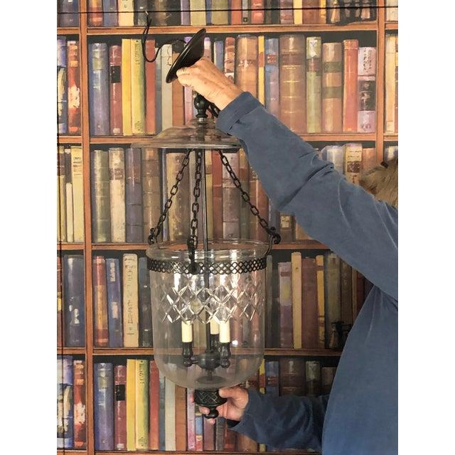 Vintage Cut Glass Bell Jar Lantern For Sale - Image 6 of 10