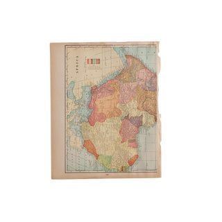 Cram's 1907 Map of Africa Regions For Sale