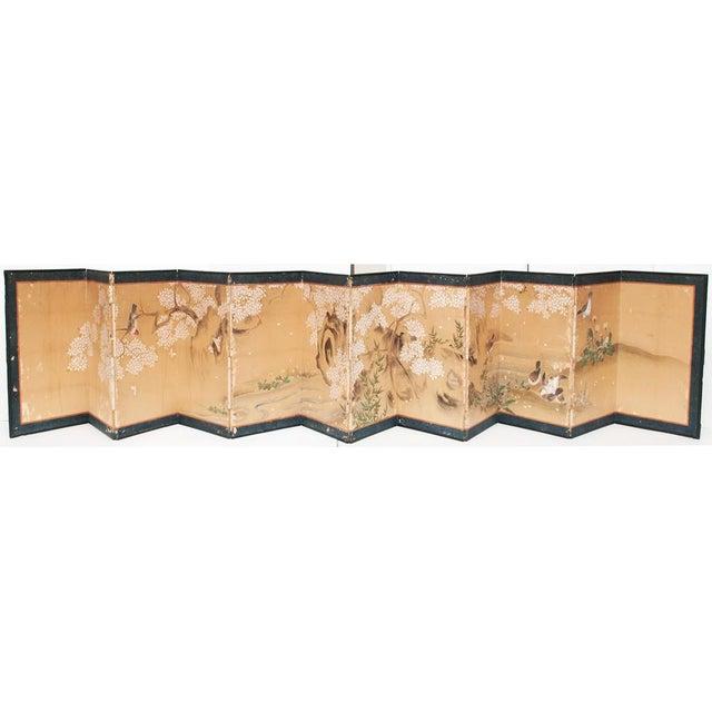 17th-18th C. Japanese Twelve-Panel Byobu Screen For Sale - Image 13 of 13