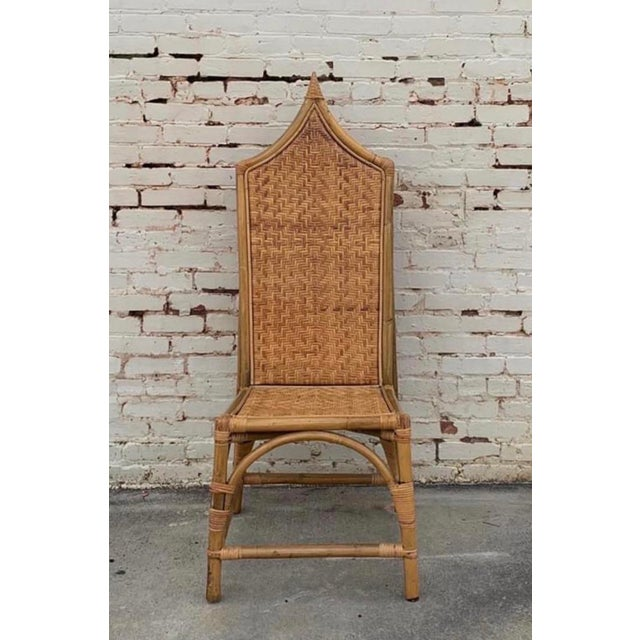 Vintage Architectural Turkish Rattan Chair For Sale In Atlanta - Image 6 of 6