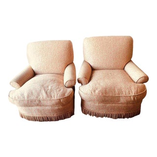 Overstuffed Arm or Lounge Chairs - A Pair