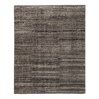 Pollack by Jaipur Living Kinetic Hand-Knotted Trellis Black/ Ivory Area Rug - 9'x12' For Sale