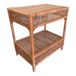Raffia Rattan Occasional Table For Sale