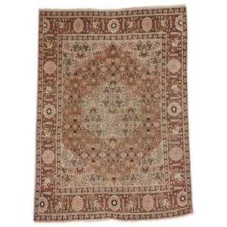 20th Century Persian Tabriz Accent Rug - 3′10″ × 5′2″ For Sale