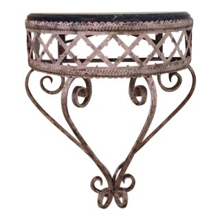 Iron and Marble Wall Bracket